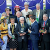 Caption: Wise Dan with John Velazquez wins the Mile.<br /> Breeders' Cup races at Santa Anita near Arcadia, California, on Nov. 3, 2012.<br /> BCRACES2012       Mile  image606<br /> Photo by Anne M. Eberhardt