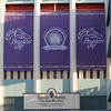 The side of Santa Anita Park is decorated for Breeders' Cup on November 3, 2012.