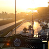 Sunrise at Clockers' Corner at Santa Anita Park on November 3, 2012.
