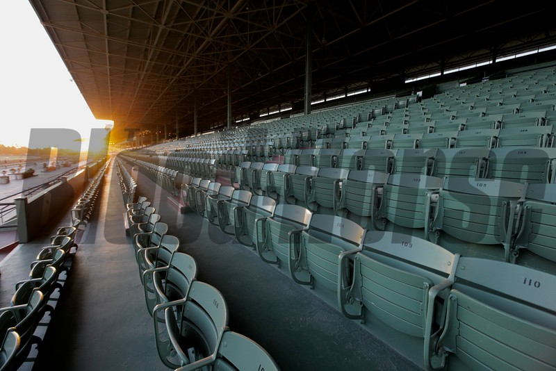 The grandstand at Santa Anita Park on Sunday, October 28, 2012, the week before the Breeders' Cup.