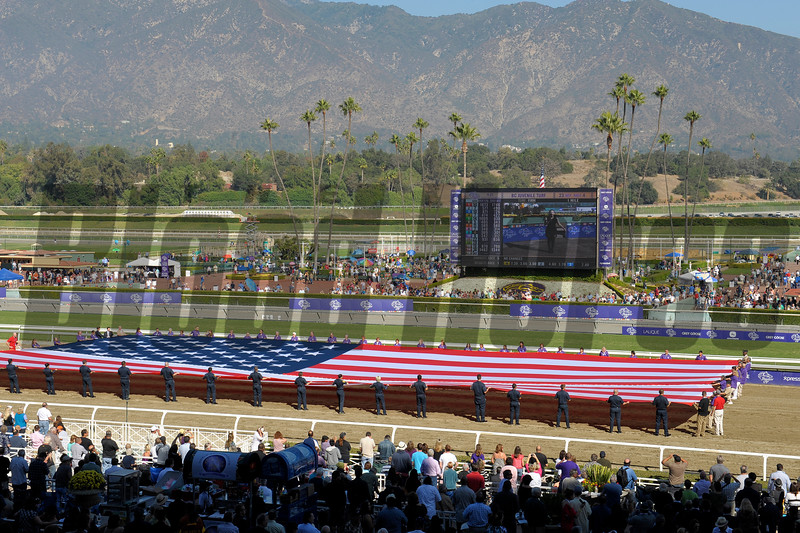 Caption: opening ceremony<br /> Breeders' Cup races at Santa Anita near Arcadia, California, on Nov. 3, 2012.<br /> BCRACES2012         JUVTurf   image794<br /> Photo by Anne M. Eberhardt