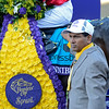 Caption: ??Trinniberg trainer Shivananda Parbhoo??<br /> Trinniberg with Willie Martinez wins the XpressBet Sprint<br /> Breeders' Cup races at Santa Anita near Arcadia, California, on Nov. 3, 2012.<br /> BCRACES2012        Sprint  image394<br /> Photo by Anne M. Eberhardt