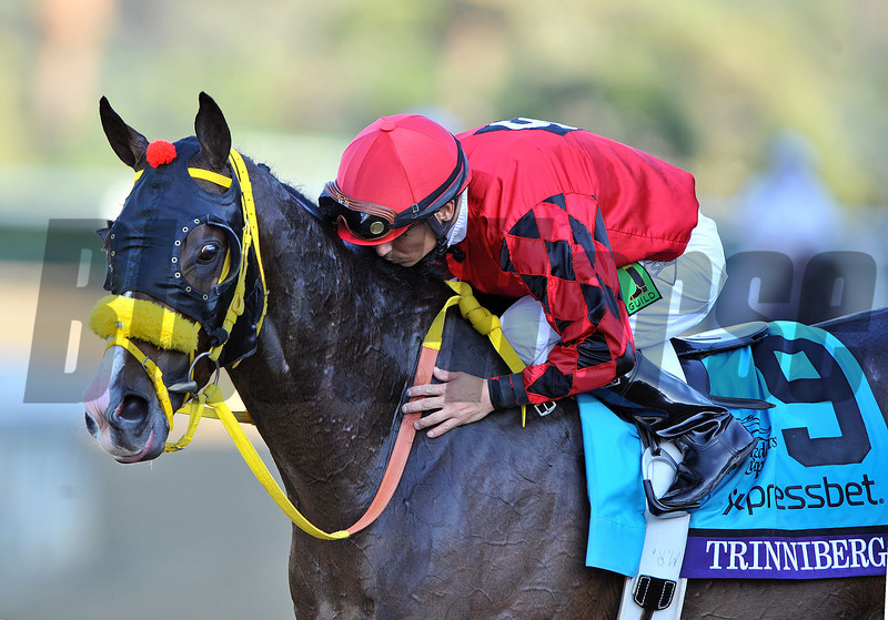 Trinniberg and Willie Martinez after winning the Breeders Cup Sprint...<br /> © 2012 Rick Samuels/The Blood-Horse