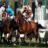 Little Mike w/Ramon Dominguez up leave the starting gate and win the Breeders' Cup Turf at Santa Anita Park on November 3, 2012.<br /> Photo by Chad Harmon