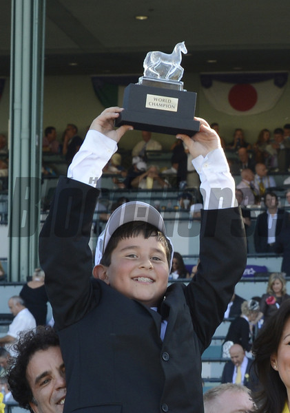 Little Mike wins the BC Turf.   <br /> Photo by Skip Dickstein