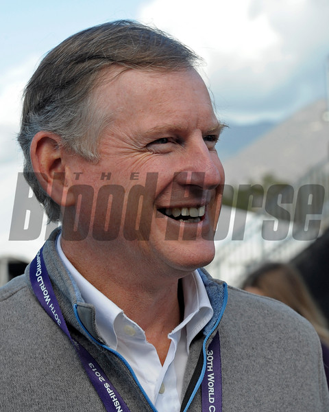 Caption:  Bill Farish<br /> Breeders' Cup horses and connections at Santa Anita near Acadia, California, preparing for Breeders' Cup raceways on Nov. 1 and Nov. 2, 2013.<br /> BCWorks1Jpegs_10_29_13 image702<br /> Photo by Anne M. Eberhardt