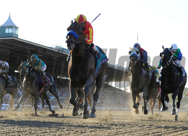 Secret Circle wins the BC Sprint.  Photo by Skip Dickstein