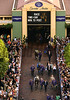 Horses walk to the paddock bedore the Breeders Cup Classic Saturday at Santa Anita.<br /> Wally Skalij Photo