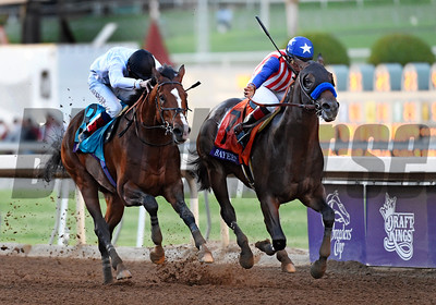 Bayern and Toast of New York in the 2014 Breeders' Cup Classic. Rick Samuels Photo