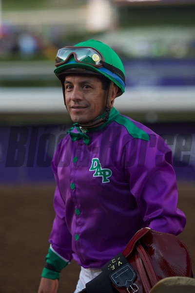 Victor Espinosa tries to hide his disappointment after the Breeders' Cup Classic (G. I).<br /> Crawford Ifland Photo