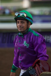Victor Espinosa tries to hide his disappointment after the Breeders' Cup Classic (G. I). Crawford Ifland Photo