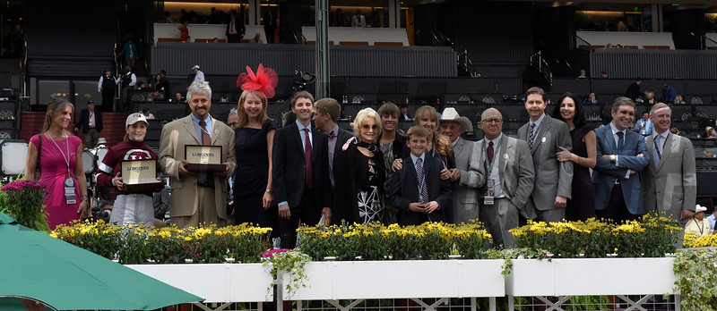 The winner's connections of Untapable.  Photo by Skip Dickstein