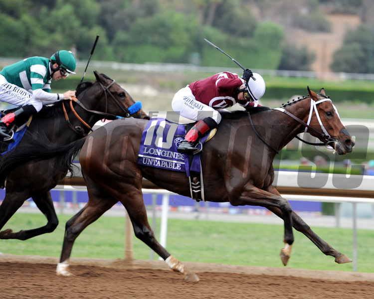 Untapable wins the 2014 Breeders' Cup Distaff<br /> Dave Harmon Photo