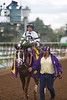 Victor Espinosa was all smiles after Take Charge Brandi won the Breeders' Cup Juvenile Fillies (G. I) on November 1, 2014.