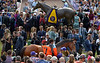Texas Red walks in the paddock before the Breeders Cup Juvenile at Santa Anita Saturday. Photo by Wally Skalij