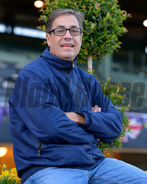 trainer John Sadler on Oct. 26, 2014, at Santa Anita in preparation for the Breeders' Cup.<br /> 2Origs10_26_14 image258<br /> Anne M. Eberhardt photo