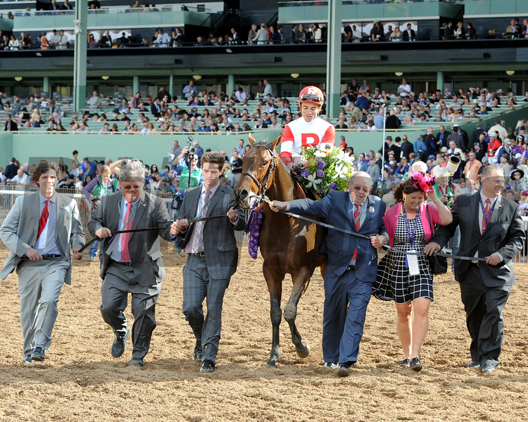 Bobby's Kitten wins the 2014 Breeders' Cup Turf Sprint.<br /> Dave Harmon Photo