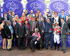celebrates Bobby's Kitten win in Turf Sprint