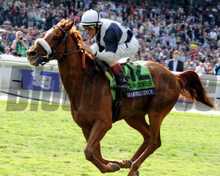 Main Sequence wins the Breeders' Cup Turf at Santa Anita.<br /> Dave Harmon Photo