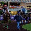 Caption:  Alan Sherman schools California Chrome<br /> Scenes at Santa Anita  on Oct. 27, 2014, in preparation for Breeders' Cup  in California.<br /> 1Origs10_28_14 image98<br /> Photo by Anne M. Eberhardt