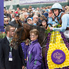Caption: Hit It A Bomb with Jokey Ryan Moore wins<br /> Juvenile Turf at Keeneland for Breeders' Cup on Oct. 30, 2015.