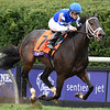Tepin and jockey Julien Leparoux win the Breeders' Cup Mile at Keeneland on October 31, 2015. <br /> Photo By: Skip Dickstein