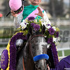 Jockey Mike Smith celebrates on Arrogate after the victory in the Breeders' Cup Classic at Santa Anita Park Nov. 5, 2016 in Arcadia, California. Photo by Skip Dickstein
