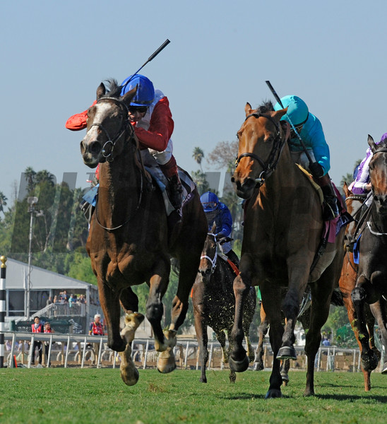 Queen's Trust wins the 2016 Breeders' Cup Filly & Mare Turf<br /> Skip Dickstein