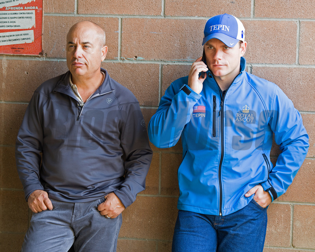 Mark and Norm Casse<br /> Works at Santa Anita in preparation for 2016 Breeders' Cup on Nov. 1, 2016, in Arcadia, CA.