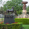 Ecorche statue<br /> Works at Santa Anita in preparation for 2016 Breeders' Cup on Oct. 31, 2016, in Arcadia, CA.