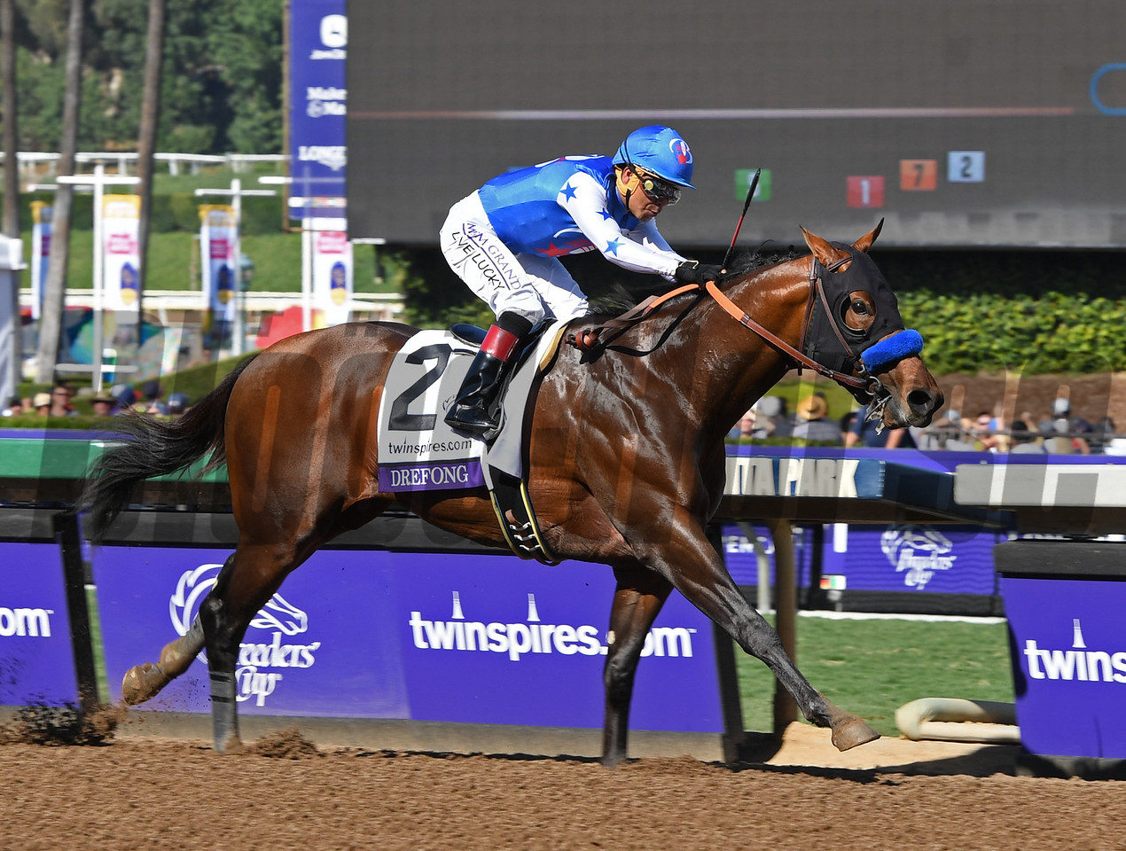 Drefong wins the 2016 Breeders' Cup Sprint<br /> Anne M. Eberhardt Photo