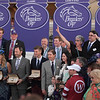 Gun Runner winner circle presentations.