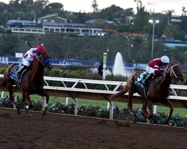 Gun Runner with Florent Geroux wins the Breeders' Cup Classic (G1) at Del Mar Racetrack on November 4, 2107.