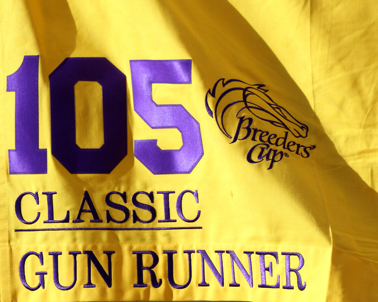 Gun Runner Exercise Saddle Cloth Breeders' Cup Del Mar Chad B. Harmon