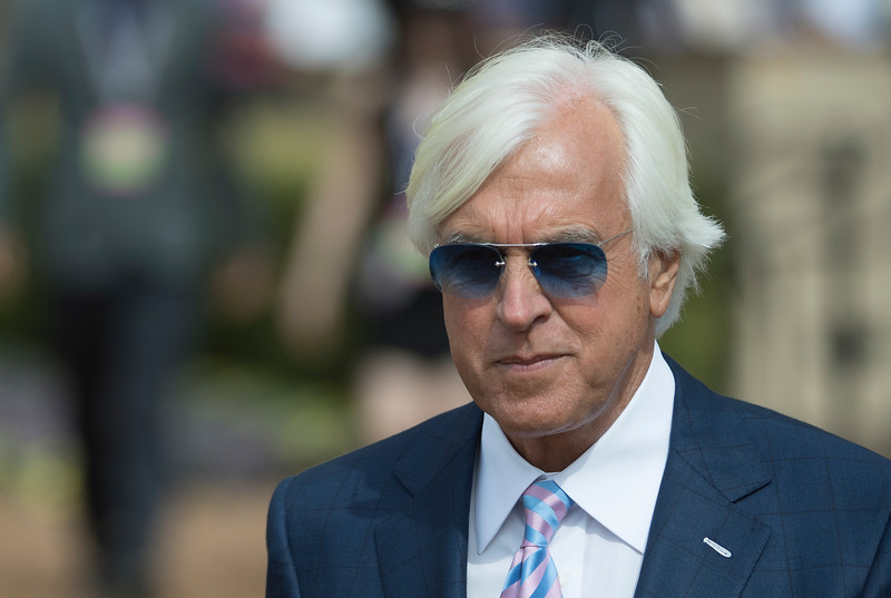Bob Baffert at Del Mar on November 3, 2017. Photo by Skip Dickstein.