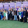 Connections of Roy H celebrate after winning the Breeders Cup Sprint on November 4, 2017. Photo by Skip Dickstein.