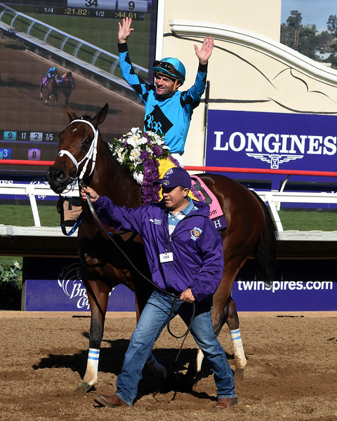 Roy H wins the 2017 Breeders' Cup Sprint (G1)<br /> Dave Harmon Photo