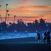 A brilliant sunrise at Santa Anita Race Course Wednesday October 30, 2019 in Arcadia, CA.  Photo by Skip Dickstein