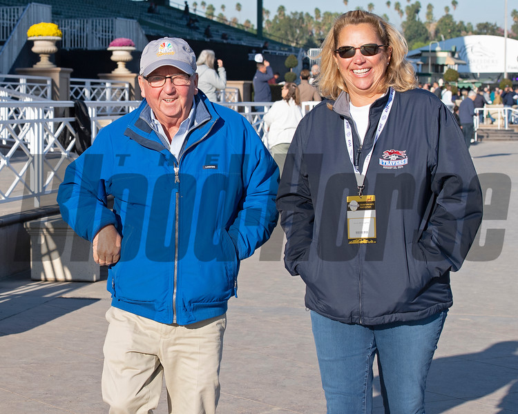 Shug and Allison McGaughey<br /> at  Oct. 31, 2019 Santa Anita in Arcadia, CA.