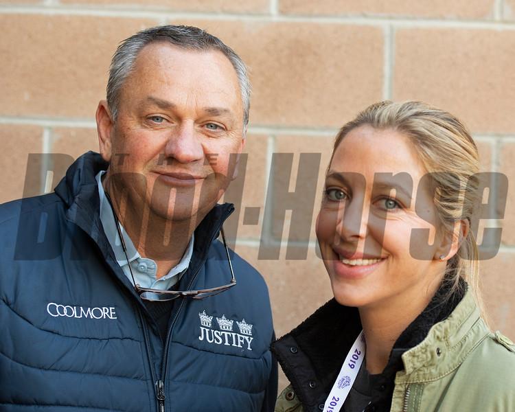 Eddie and Catherine Kenneally<br /> at  Oct. 30, 2019 Santa Anita in Arcadia, CA.