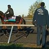 vet team<br /> Breeders' Cup horses at Keeneland in Lexington, Ky. on November 2, 2020.