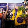 Winning connections of Authentic with John Velazquez in the winner's circle for the Breeders' Cup Longines Classic at Keeneland in Lexington, Ky. on Nov. 7, 2020.