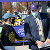 Brad H. Cox in the winner's circle after Knicks Go with Joel Rosario win the Breeders' Cup Dirt Mile at Keeneland in Lexington, Ky. on Nov. 7, 2020.