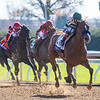 Gamine ridden by John Velazquez wins the $1M Filly and Mare Sprint at Keeneland Race Course Saturday, Nov. 7 2020 in Lexington, KY.  Photo by Skip Dickstein