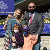 Michael Lund Petersen and his family in the winner's circle after Gamine with John Velazquez win the Filly and Mare Sprint at Keeneland in Lexington, Ky. on Nov. 7, 2020.