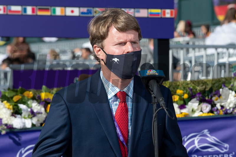 Maker's Mark Sponsor in the winner's circle for the Breeders' Cup Filly and Mare Turf at Keeneland in Lexington, Ky. on Nov. 7, 2020.