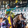 Fire At Will ridden by Ricardo Santana Jr.wins the $1M Juvenile Turf(G1) Presented by Coolmore at Keeneland Race Course Friday Nov. 6 2020 in Lexington, KY.  Photo by Skip Dickstein