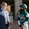 (L-R) Terry Meyocks and David Cohen at Keeneland in Lexington, Ky. on Nov. 7, 2020.