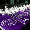 Breeders' Cup bags are displayed at Keeneland in Lexington, Ky. on Nov. 7, 2020.