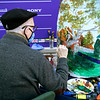 A painter at Keeneland in Lexington, Ky. on Nov. 7, 2020.